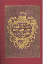 Black's Road & Railway Travelling Map of Scotland (SOLD)