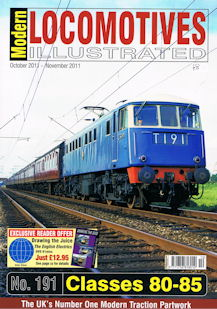 Modern Locomotives Illustrated No 191 Classes 80 - 85