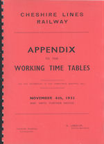 Cheshire Lines Railway November 1935 - Appendix to the Working Timetables