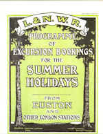 L&NWR Programme of Excursion Bookings for the Summer Holidays