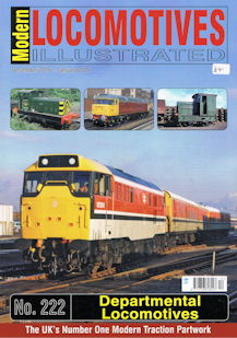 Modern Locomotives Illustrated No 222 - Departmental Locomotives