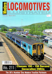 Modern Locomotives Illustrated No 211 Classes 150 - 156 Second Generation DMUs