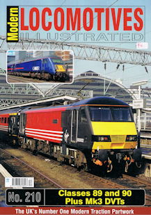 Modern Locomotives Illustrated No 210 Classes 89 and 90 Plus Mk3 DVTs