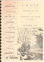 LMS October 1933 - Alphabetical List of Passenger and Goods Stations