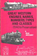 Great Western Engines, Names, Numbers, Types and Classes (1940 to Preservation)