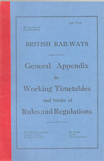 British Railways General Appendix to WTTs October 1972