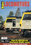 Modern Locomotives Illustrated No. 213 Class 92, BB22200 and EuroTunnel 'Shuttle' Locos