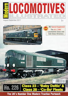 Modern Locomotives Illustrated No 226 Class 23 - 'Baby Deltic' & Class 28 - 'Co-Bo' Fleets