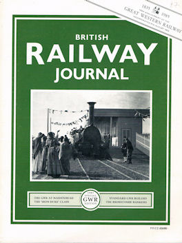 British Railway Journal Special GWR Edition No 1